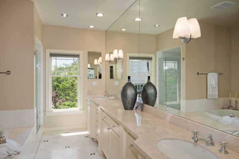 Contractor built bathroom remodeling
