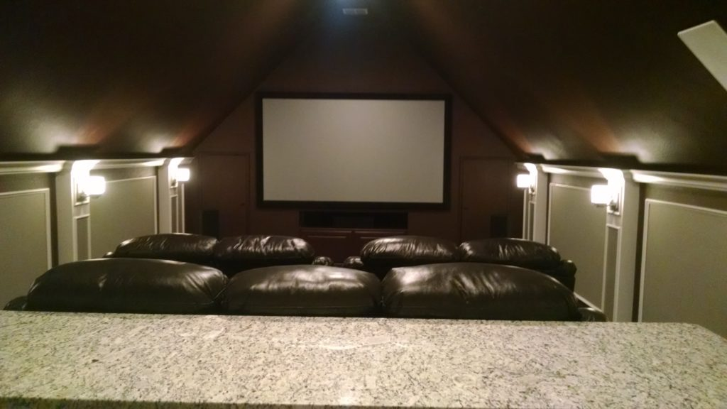 Room addition theater renovation