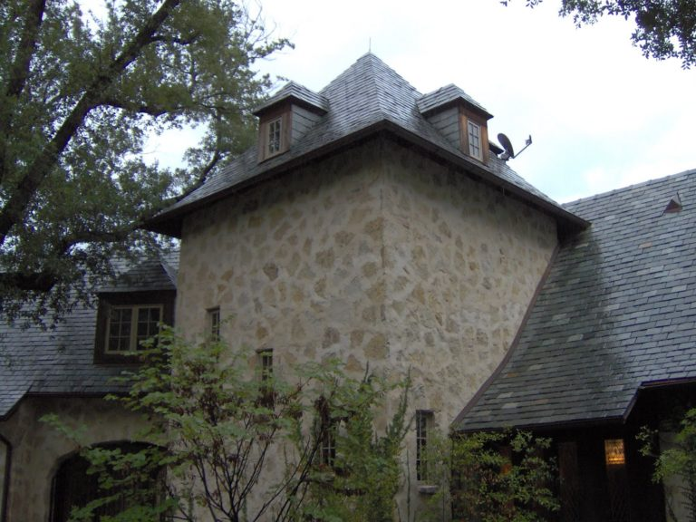 Slate roofing stone tower