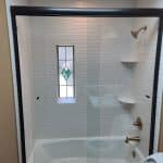 Bathroom remodeling, wavy tile layout